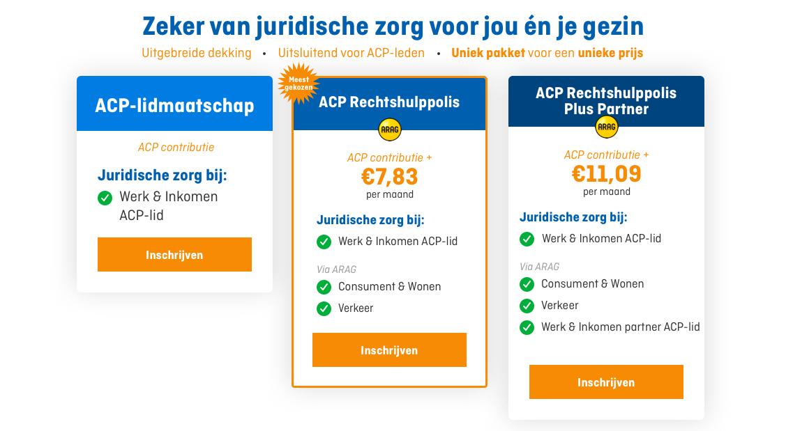 ARAG helpt ACP-leden op het gebied van rechtsbijstand privé