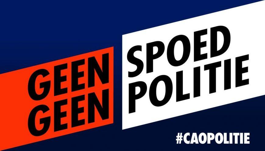 Actie: drie dagen #geenspoedgeenpolitie